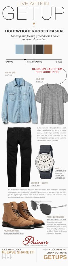 Live Action Getup: Lightweight Rugged Casual | Primer