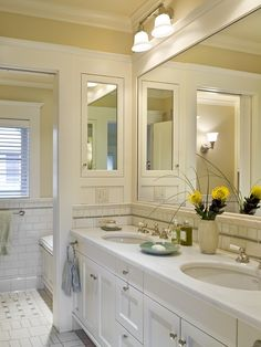 Bathroom White Subway Tile Bathroom Design, Pictures, Remodel, Decor And  Ideas   Page · Shingle Style HomesMedicine CabinetsRecessed ...