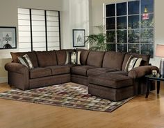Only $899 For This Quality Sectional Upholstered In A Beautiful Chocolate  Chenille Fabric. Sectional Is. Furniture ...