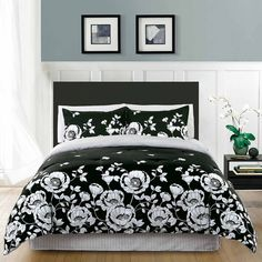 Comforter Set 100 Cad Liked On Polyvore Featuring Home Bed Bath Bedding Comforters Black And White Full Queen