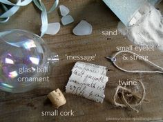 message in a bottle ornament supplies pleasure in simple things blog