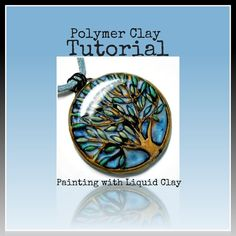 SALE- Polymer clay Tutorial- Jewelry Tutorial- How to Paint with Liquid Polymer Clay