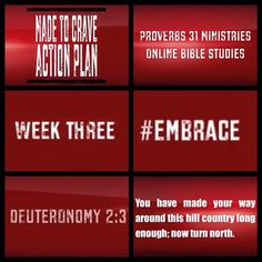 Made To Crave, Week three, #Embrace the equation, Verse: Deut. 2:3