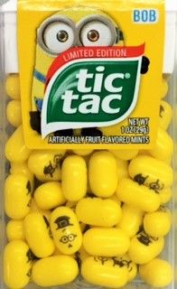 """Tic Tac Mints Minions 1 oz ( Box of 12 Containers ) """"FAST N FREE SHIPPING no minimum required buy today at www.JGUM.Net"""""""