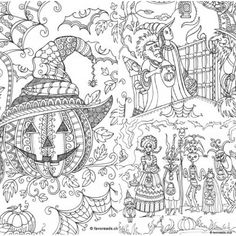 Pin By Heather H On Halloween Pinterest Coloring Pages Adult