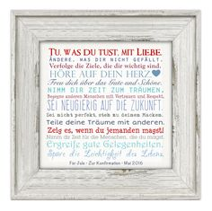 "dream dates ""Manifesto"" Canvas image with dedication 25 x 25 cm A nice gift, . for communion/Confirmation/youth consecration. The bottom line ""name-event-date"" is adjusted according to t"
