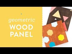 DIY Painted Geometric Wood Panel Wall Art Tutorial for Meet and Make - YouTube