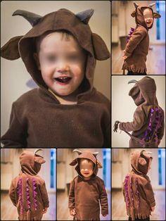 Grüffelo Kostüm … Mehr Gruffalo Costume, Gruffalo Party, The Gruffalo, Gruffalo's Child, School Costume, Book Week Costume, Kids Dress Up, Dress Up Outfits, Costumes