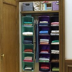 Great idea for those tiny dorm room closets,  Go To www.likegossip.com to get more Gossip News!  -I actually do this and have for years! Last night my roommate just told me I have the most organized closet she's ever seen. =)