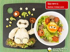 Big Hero 6 Baymax rice ball plate
