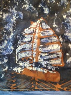 "Batik 49'er Storm Sail Wall Hanging 14"" x 17"" on Etsy, $25.00"
