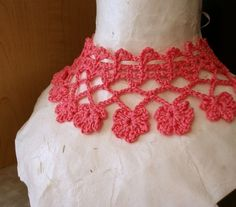 PDF Crochet Pattern Fabled Flowers Necklace by JeweledElegance