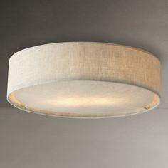 Dramatic lighting for low ceilings pinterest modern ceiling john lewis samantha linen flush ceiling light aloadofball Images