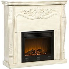 @Overstock - Add cozy comfort to your home decor with the Vienna electric indoor fireplace  Fireplace is intended as a decorative accessory only  Fireplace features a classic, antique designhttp://www.overstock.com/Home-Garden/Vienna-Antique-White-Electric-Fireplace-with-Remote/2650437/product.html?CID=214117 $368.89