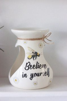 Your place to buy and sell all things handmade Bee Quotes, Bee Wax, Electric Wax Warmer, Dragonfly Decor, Wax Burner, Bee Gifts, Candle Warmer, Bee Design, Bee Theme