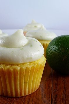 This is one of the hundreds of cupcake recipes that I make homemade for my cupcake business. It's a light lemon and lime cupcake. Easy Cupcake Frosting, Cupcake Cakes, Cupcake Recipes, Baking Recipes, Lime Cupcakes, Vanilla Cake Mixes, How To Make Cupcakes, Delicious Deserts, Baking Cups