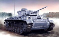 Panzer III Ausf. L (Late Production) de la 11ª Parzerdivision equipado con Winterketten, invierno Frente del Este.