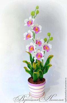 Интерьерные композиции ручной работы. Бал орхидей. Наталия Вербицкая. Интернет-магазин Ярмарка Мастеров. Оригинальный подарок, цветы из бисера