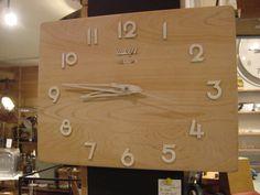 old cut board clock