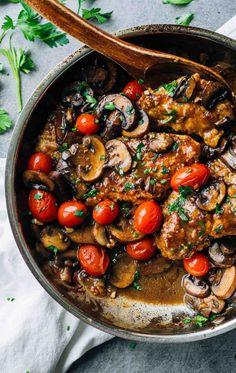 Drunken Chicken Marsala with Tomatoes Recipe