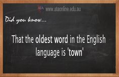 TESOL ESL [ English Facts ] 'town' the oldest word