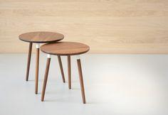 walnut crescenttown side tables