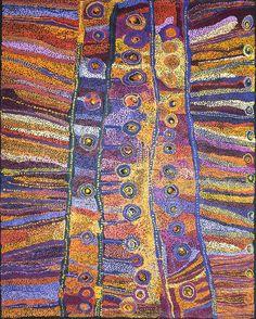 Wawiriya Burton - Ngayuku ngura - My Country - 198 x 152,5 cm http://www.aboriginalsignature.com/art-aborigene-tjala/wawiriya-burton-ngayuku-ngura-my-country-198-x-1525-cm