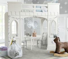 Girls bedrooms Fairytale Bedroom, Dream Bedroom, Dream Rooms, Bedroom Loft, Kids Castle, Castle Bed, Castle Wall, Little Girl Bedrooms, Big Girl Rooms