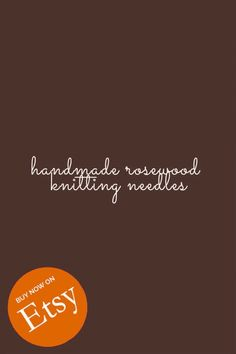 These lovely single-pointed wooden knitting needles are handmade and lovely to knit with. Made with gorgeous rosewood, they warm to your hand offering superior knitting experience. Available on Etsy in various sizes, 30cm long. Wooden Knitting Needles, Knitting Accessories, Knitting Projects, Warm, Handmade, Beautiful, Etsy, Hand Made, Knitting Stitches