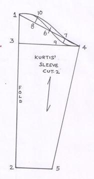 Sewing Ladies Clothes Drafting Procedures of Ladies Kurti - Textile Learner Pattern Drafting Tutorials, Sewing Patterns Free, Sewing Tutorials, Coat Patterns, Sewing Ideas, Sewing Projects, Sewing Lessons, Sewing Class, Sewing Sleeves