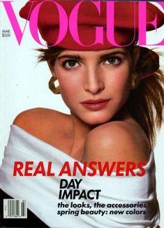 ab64f62956 Stephanie Seymour 1988 Vogue Magazine Covers, Fashion Magazine Cover, Vintage  Vogue Covers, Estelle