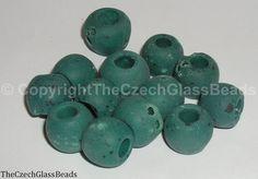 50g Czech Vintage Sintered Saucer Beads 18mm by TheCzechGlassBeads