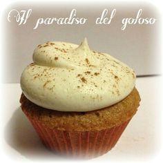 cupcake mela e cannella e crema alla vaniglia #CUPCAKE #halloween #solocosebuone #bakery #torte #cake #yummy #sugar art #patisserie #desserts #sweettooth #chocolate #eat #yum #delicious #tasty #hungry #yum #icecream #foodpics #TagsForLike
