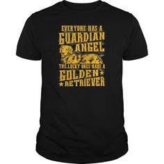 Golden Retriever  Everyone has a guardian angel  Mens Premium TShirt - Wear this I Love My Dog Golden Retriever dog lover t shirt while walking your pet. Give this as Christmas or birthday gift to someone that loves their dog. This comfortable shirt is available in mens, womens, and youth sizes. This tshirt is a perfect present for a son or daughter. Your hipster best friend or sister might enjoy this cute animal lover top, A brother or husband might be a fan of this casual novelty shirt…