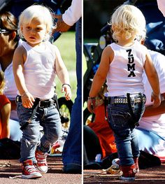 Who is that little rocker sporting suspenders and a studded belt? It's Zuma Rossdale! Check out his monogrammed tank top! Little Zuma Rossdale was flying solo on a recent trip to the park! The 2-year-old was without his famous parents, Gwen Stefani and Gavin Rossdale, or his big brother, Kingston, ...
