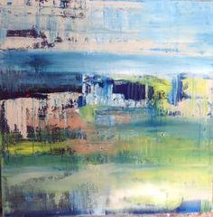 "Saatchi Art Artist Hennie van de Lande; Painting, ""Green Land (Featured)"" #art"