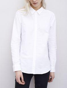 Minimal + Classic: La Chemise Oxford - Blanc - Maison Standards