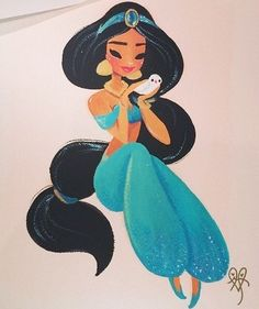 Princess Jasmine Artwork - another fav by Liana Hee @lianahee