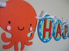 birthday banner - under the sea