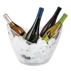 TF 4-Bottle Ice Bucket by Truefabrications. $26.46. Clear acrylic. Holds 4 bottles of wine. Ice bucket for wine or champagne. Clear Acrylic Ice bucket holds up to 4 bottles of wine.