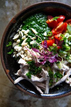 Quinoa, Chicken, and Kale Pesto Bowl | 21 Healthy And Delicious One-Bowl Meals