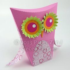3D Owl Party Favor Treat Box - SVG and DXF formats