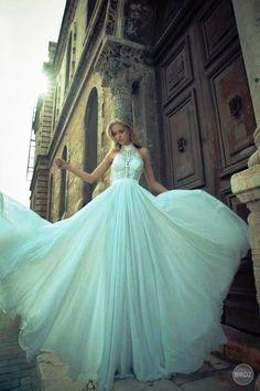 Full skirted embellished wedding dress