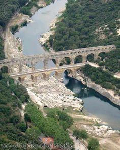 Pont du Gard, Cap d'Agde, France walked across the top of the bridge-no guard rails.