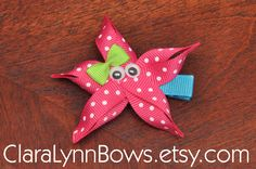 Starfish Ribbon Sculpture Hair Bow - New to Clara Lynn Bows. $3.00, via Etsy.