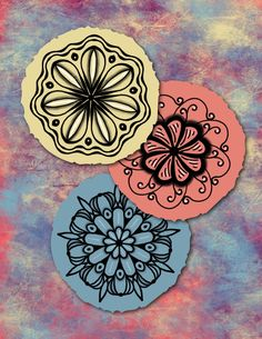 Mandalas layered on one of the images from my Digital Papers. #digitalpapersbygenevieve