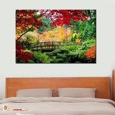 Bridge Scene Wall Art Canvas Painting  Landscape Wall Art Canvas Painting natural nature landscape sky Canvases home decor ideas wall products art panels designs art beautiful living rooms art sets gift decoration ideas awesome cool unique cheap inspirational backgrounds for sale buy online shopping shops website links USA UK Australia Canada Spain France AuhaShop.com