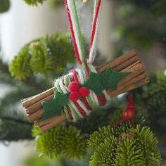 christmas-ornaments-cinnamon-sticks-yarn-holly-felt