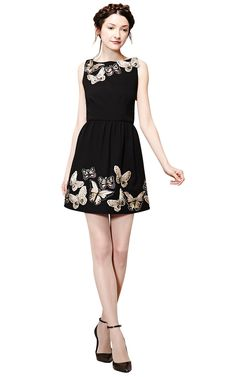 LILLYANNE PUFF MINI DRESS ALICE AND OLIVIA