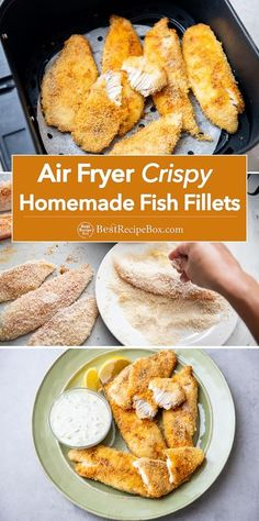 Healthy Air Fryer Fish Fillets Recipe using fresh fish like tilapia, cod or halibut.
